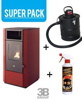 Pack Estufa de pellets + aspirador cenizas + regalo