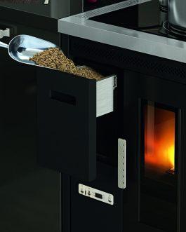 Cocina de pellets Nina 7,5KW Ventilata versión Incasso