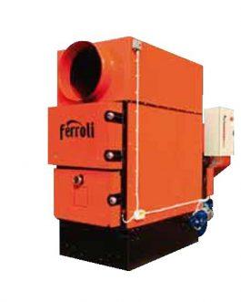 Generador de aire caliente a biomasa Ferroli BEMUS 130KW