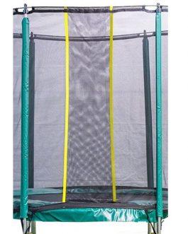 Cama elástica MASGAMES DELUXE 244 con red y escalera