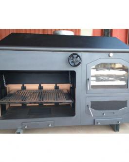 Horno – Barbacoa con interior de acero inoxidable