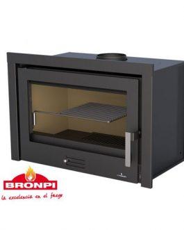 Insertable de leña Rioja Bronpi con turbinas 12,5KW