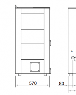 Estufa policombustible Alba 16,5KW (op. canalizable)