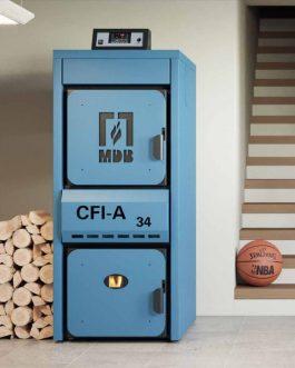 Caldera de leña y policombustible CFI-A 24-84KW