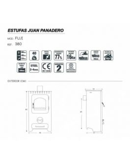 Estufa policombustible Fuji Eco Plus