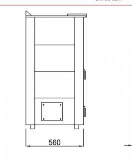 Estufa policombustible Flora 11,5KW (opcion canalizable)