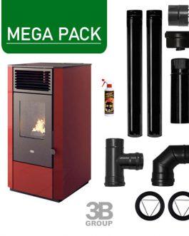 Pack Estufa de pellets 9,5KW + Kit básico instalación + regalo