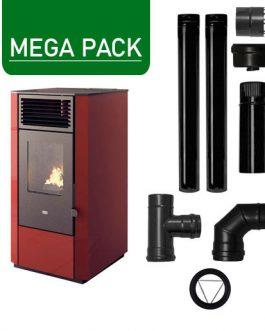 Pack Estufa de pellets 9,5KW + Kit básico instalación